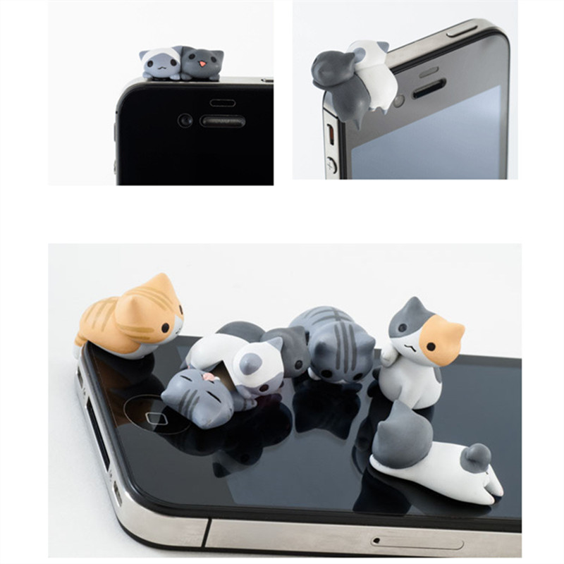 Lovely Cute Cat Dust Plug Phone Anti Dust 3.5mm Universal Phone Dust Plug for HTC Samusng iPhone Headphone jack Dustproof Plug(China (Mainland))