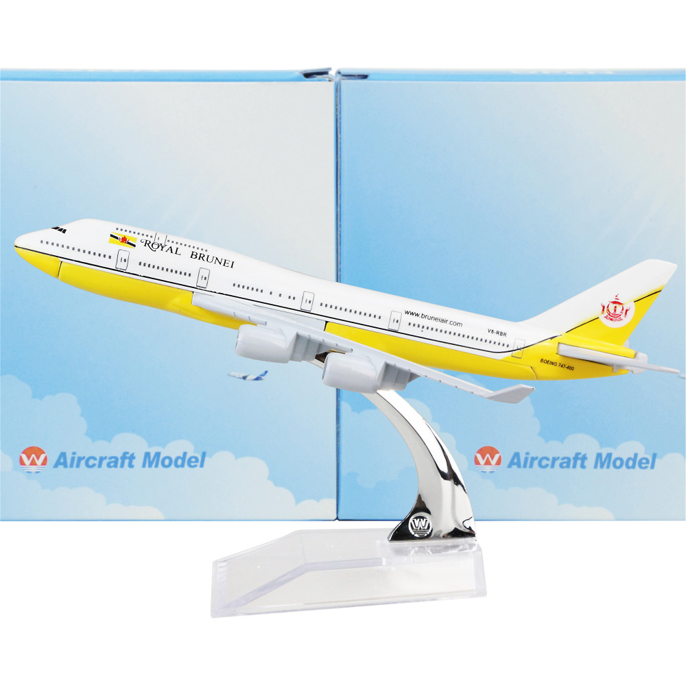 Royal Brunei Boeing 747 16cm model airplane kits child Birthday gift plane models toys Christmas gift(China (Mainland))