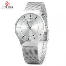 Zegarek dla mężczyzn JULIUS stal nierdzewna prosty i wygodny