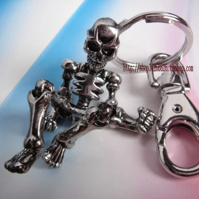 10pcs/lot skeleton keychain hombre christmas gift high quality llaveros key holder creative portachiavi trinket free shipping<br><br>Aliexpress