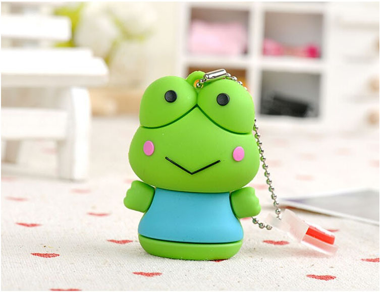 Hot sale real capacity cartoon green frog usb flash drive 2gb 4gb 8gb 16gb 32gb memory stick thumb pen drive USB creativo gift(China (Mainland))