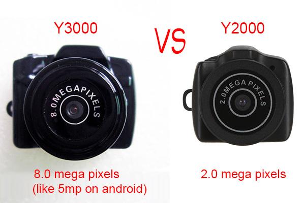 Y3000&Y2000 HD 1280*720P Micro Digital Camera Portable Super Mini Camera Wireless Webcam Camera Video Recorder(China (Mainland))
