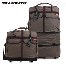 """Livraison gratuite qualité universelle roues chariot bagages valise super grande capacité plié oxford voyage de tissu sac luggage40 """"(China (Mainland))"""