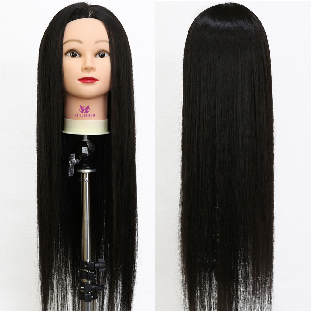 26 1B# 100% Hairdressing Heat Resistant Synthetic Fiber Hair Mannequin head Styling Manikin Doll for College Salon Training