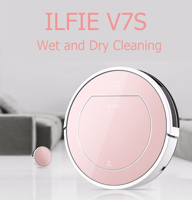 FREESHIPPING Robot Vacuum Cleaner v7 v7s for Home Wet Dry Clean Water Tank Double Filter,Ciff Sensor,Self Charge ROBOT ASPIRADOR(China (Mainland))