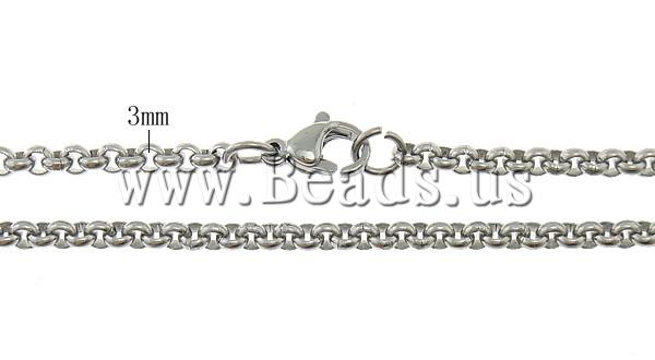 Free shipping!!!Necklace Chain,Wholesale Jewelry, Stainless Steel, stainless steel lobster clasp, oril color, 3x3x1mm
