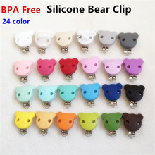 Buy 10pcs Silicone Bear Clip Baby Dummy Teether Pacifier Chain Clips DIY Craft Baby Soother Nursing Accessories Holder Clips for $16.13 in AliExpress store