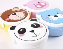 High Quality Double Layer Baby Food Storage Box Kids Cartoon Plastic Lunch Meal Box Camping Vacuum Lunch Box Plastic Container