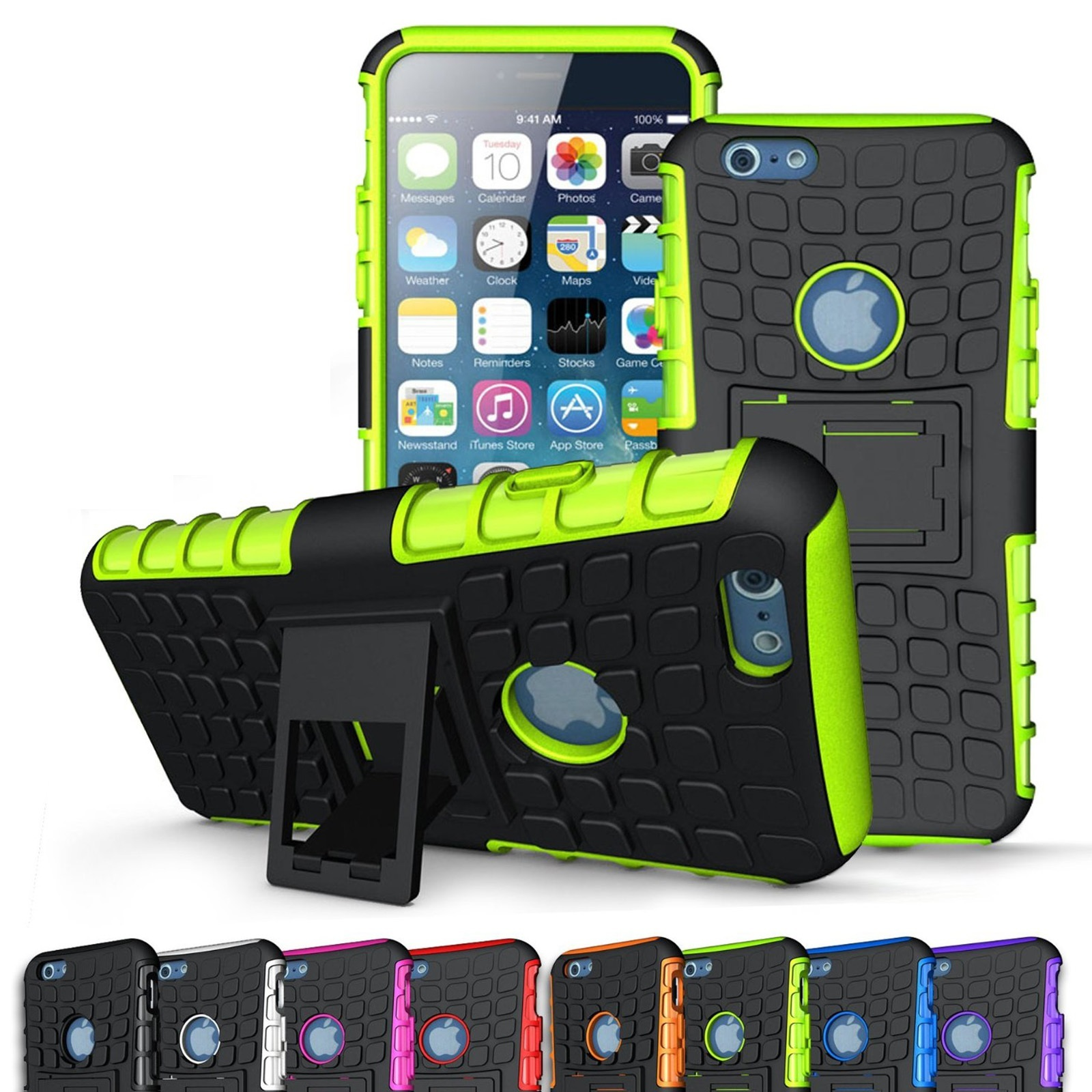 ULAK Hybrid Heavy Duty Rugged 2-Piec Dual Layer Combo Case Stand Cover for Apple iPhone 6/iPhone 6S 4.7 inch(China (Mainland))