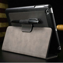 Business Style Jean Leather case For iPad mini Retina 2 smart cover For iPad Mini 3 with stand luxury drop ship(China (Mainland))