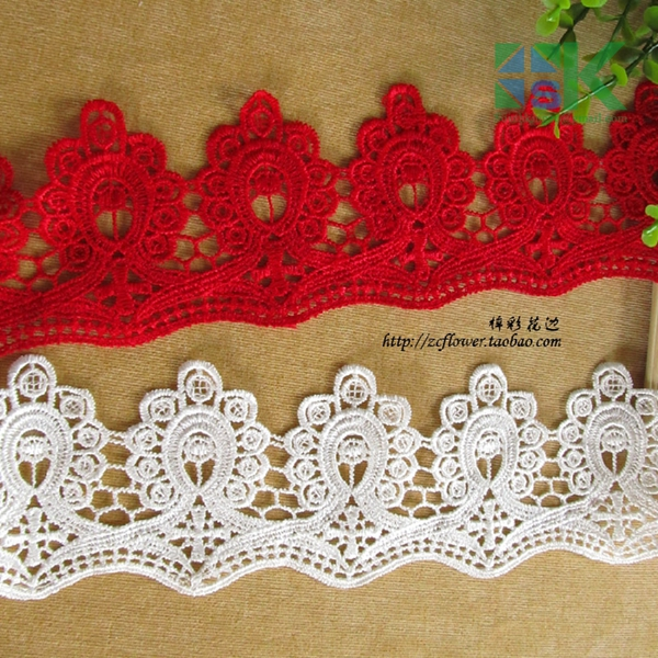SK Lace wholesale 3 Yard/lot Water soluble lace fabric bride hair accessory diy material wedding dress,clothing accessories(China (Mainland))