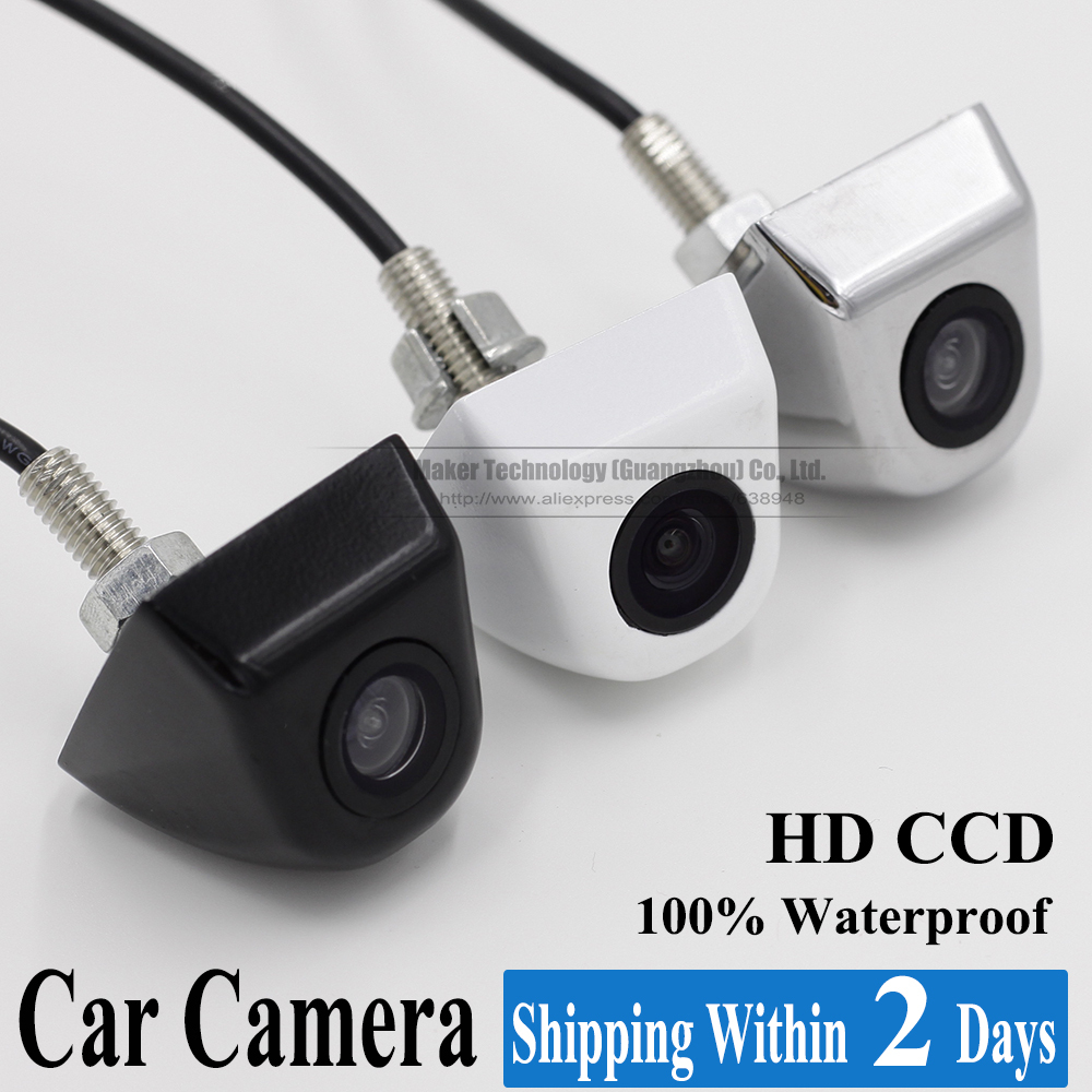 2015 New Waterproof CCD Universal HD Car Rear view BackUp Reverse Parking Camera Black Chromed White