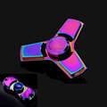 2 Style Colorful Funny EDC Tri Spinner Fidget Toys Hand Spinner Metal Fidget Spinner and ADHD