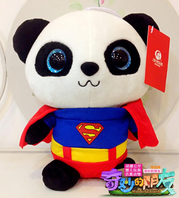 Genuine hug Giant panda big eyes doll plush toy gift souvenir panda de brinquedo Brinquedos Teddy Bear Bat man Spider man panda(China (Mainland))