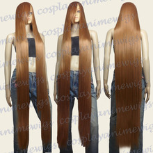 Synthetic fibre queen 150cm Light Brown Heat Styleable Extra Long Cosplay Wigs women wig - Online Store 735763 store