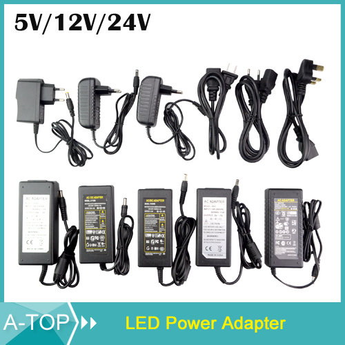EU/US/UK/AU Plug DC 5V/12V/24V 1A/2A/3A/4A/5A/6A/7A/8A Power Adapter Power Supply Switching Charger For 3528 5050 5630 Led Strip(China (Mainland))