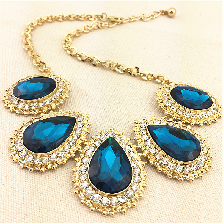 Fashion New Statement Boutique Colorful Transparency Crystal Pendants Unique Water Drop Women 2016 Accessories jewelry - Left Hand & Right Jewelry Shop store