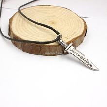 Freeshippi men jewelry supernatural kinfe letter necklace(China (Mainland))