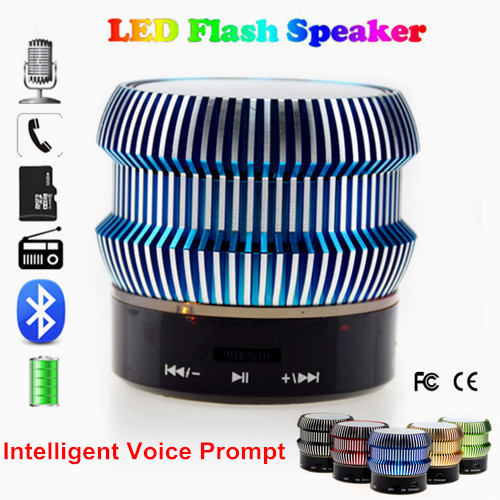 Colorful Portable LED Bluetooth Speaker Stereo USB Speaker Built-In FM Mini Radio for Iphone Android PC Altavoz Bluetooth USB(China (Mainland))