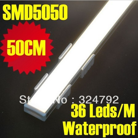 DHL/EMS shipping 6 36Leds 50CM/pc warm/ White Selective Waterproof Aluminum Alloy Rigid Led Strip Bar Light SMD 5050 - SHEN ZHEN ROYAL TRADE CO.,LTD store