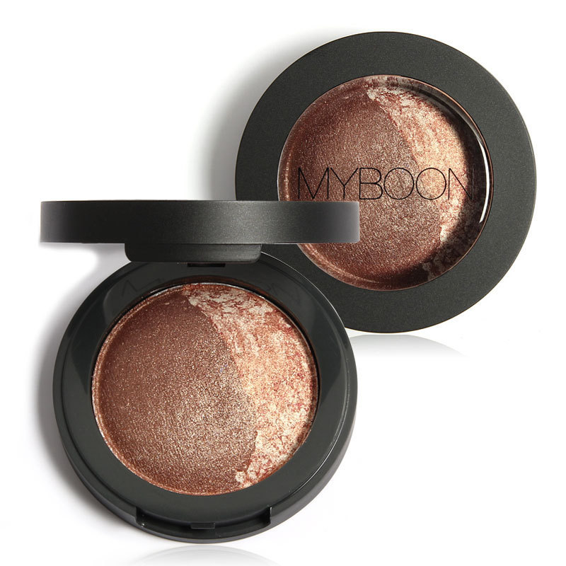 MYBOON Baked Eyeshadow Two Shade Palette Eye Shadow Ultra-fine Mineral Texture 8 Colors Optional B06 - WOVJ Beauty Shop store