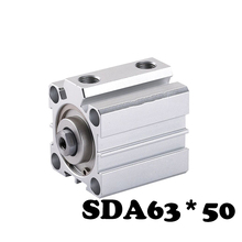 Buy SDA63*50 Standard cylinder thin cylinder SDA Series 63mm Bore 50mm Stroke Cylinder for $16.20 in AliExpress store