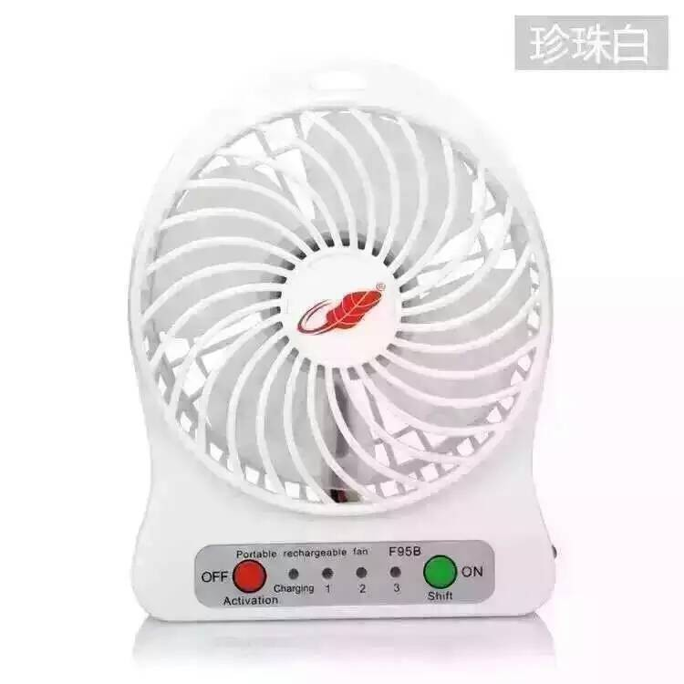 Mini Portable Fan USB Cooler Rechargeble Battery Powered 18650 li ion Outdoor Camping office Cooler + battery(China (Mainland))