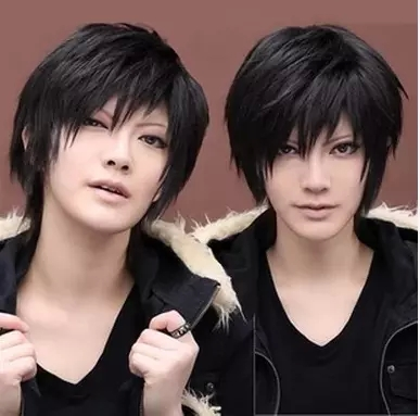 2016 Popular Heat Resistant Hair Handsome boys wig New Male Korean short Hairpiece Wig Top Quality false hair Cosplay wigs(China (Mainland))
