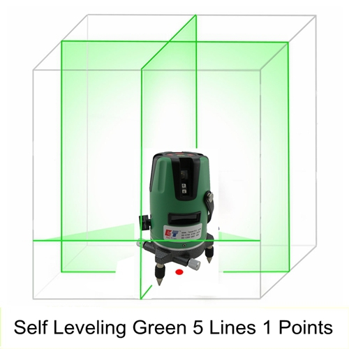 Лазерный уровень KaiTian 5 1 /Slash 5 Lines 1 Point Rotary Laser Level Green green acuangle a8832g laser level 635nm 2 cross lines 360 rotary laser levels indoor outdoor portable automatic high brightness