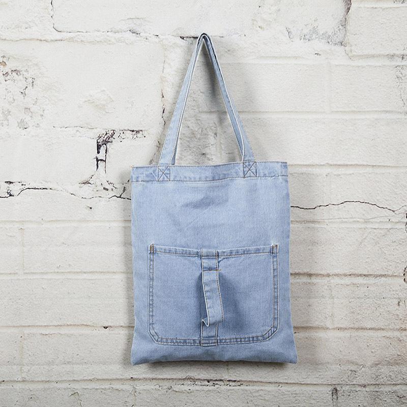 2016 Korea Denim Bag Women's Handbag Large Canvas Tote Bag Fashion Girl Shoulder Bag Shopping Causal Travel Bag Hand Tassen()