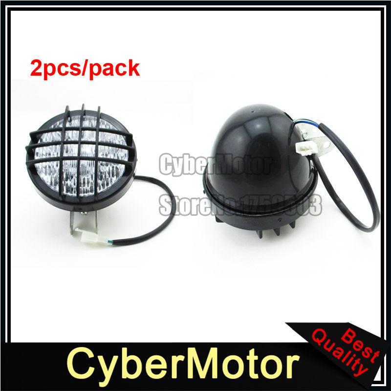 3 Pin 12v LED Head Front Light Headlight For 50cc 70cc 90cc 110cc 125cc 150cc 200cc ATV Quad Go Kart Sunl Taotao Kazuma Roketa(China (Mainland))