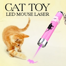 2016 Creative and Funny Pet Cat Toys LED Laser Pointer light Pen With Bright Animation Mouse Random Color(China (Mainland))