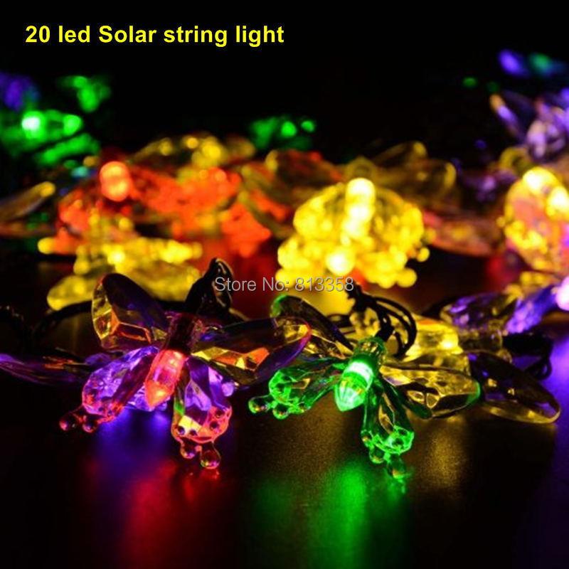 5set 20 led Solar powered outdoor christmas decorations lights garden lights Christmas flowers string lights garland<br><br>Aliexpress