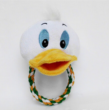 The cute duck dog toy and small dog toys with cartoon shape which is healthy and suitable as gift to dog.(China (Mainland))
