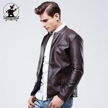 New Winter Men's Fleece PU Leather Fashion Slim Stand Collar Casual Biker Jacket Men Bomber Jacket Leater Coats M~3XL EB8FP603(China (Mainland))