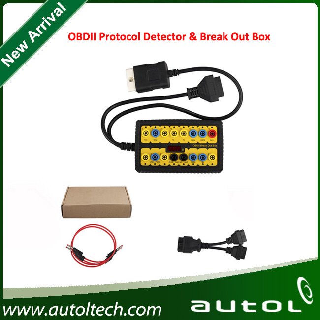 OBD2 Protocol Detector Break Out Box Diagnostic Scanner Display testing voltage on the car or truck<br><br>Aliexpress