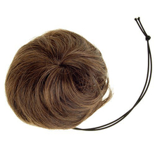 FS Hot 10x Woman Hairpiece Hair Bun Wig Topknot Wigs Extensions - Light Brown(China (Mainland))