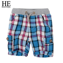 Retail 2015 fashion plaid baby boys shorts summer children chothing kids boys trousers free shipping