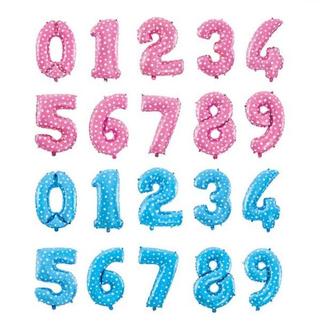 1 шт. 16 дюймов розовый и голубой количество шары гелием фольгированные шары для ну вечеринку свадьба день рождения украшения майларовую globas