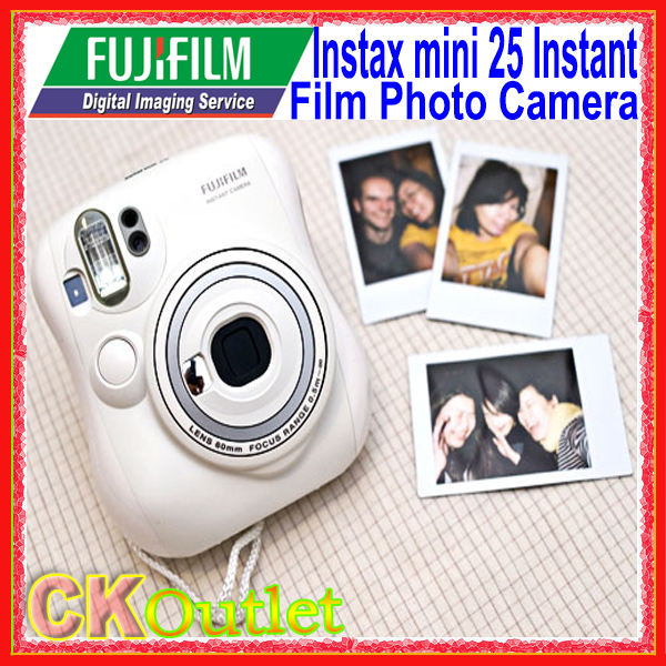 Fujifilm Instax Mini 25 Instant Film Photo Camera Blue / White with Free Gift(China (Mainland))