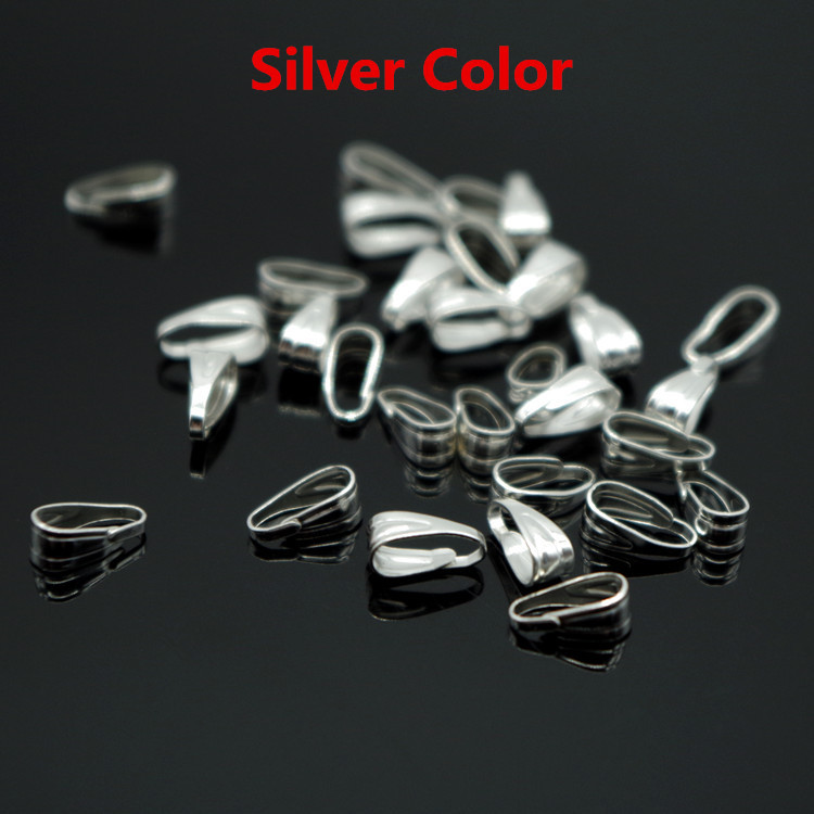 300Pcs Metal Pendant Clips & Pendant Clasps,Pinch Clip Bail Pendant Connector Jewelry Findings DIY Jewellery Parts Accessories(China (Mainland))
