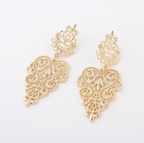 1394#Min.order $10 (mix order).NEW 2014 Hot 1pair Retro Vintage Alloy Women Silver Golden Long Bohemian Pierced Earrings! - Online Store 514545 store