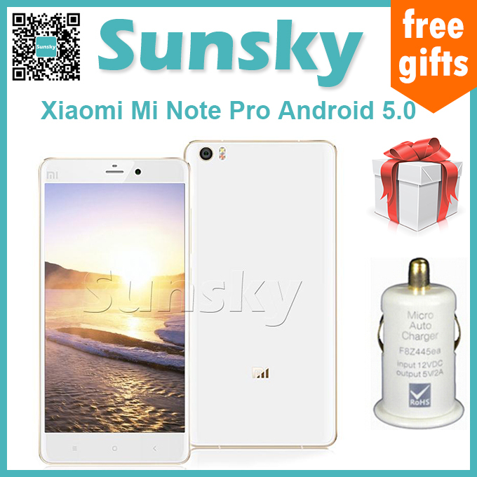 "Original Xiaomi Mi Note Pro 5.7"" 2K JDI Display Android 5.0 4GB 64GB 64-bit Qua lcomm Snapdragon 810 Octa Core HiFi Smartphone(China (Mainland))"