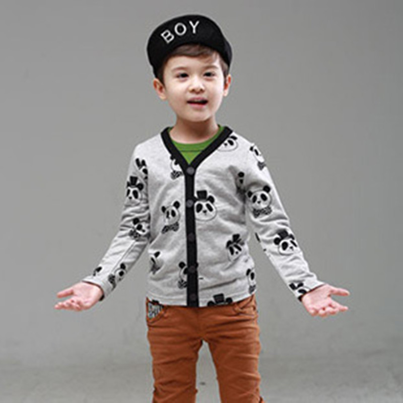 Kids knit cotton sweaters spring autumn coat children 2015 new clothing baby boys cardigan size 90-130<br><br>Aliexpress