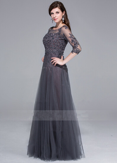 Grey evening dress long « Dress lady style