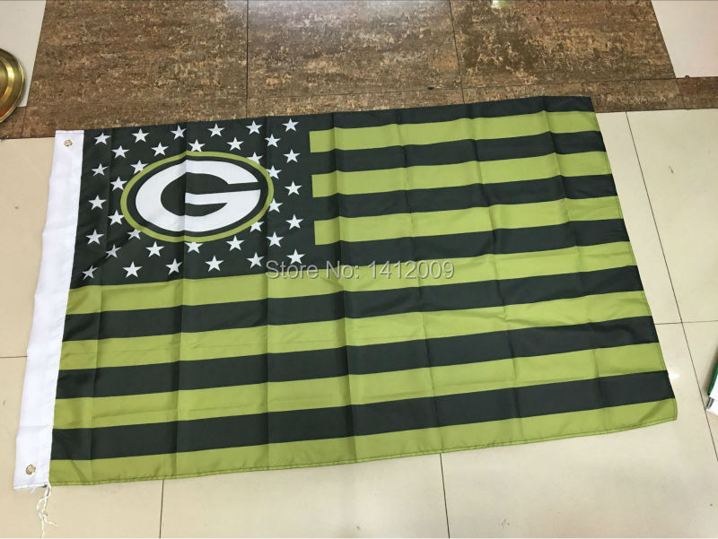 The green bay packers NFL flag flag 3 x 5 feet Free shipping(China (Mainland))