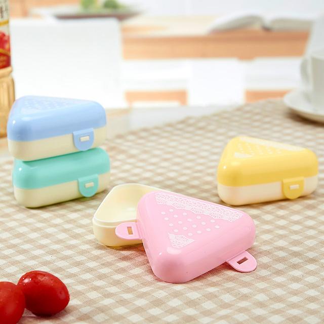 Цвет выберите 2 шт./компл. Бенту Lunch Box Японский Пластиковые Контейнеры Для Пищевых Продуктов Набор для Суши Риса Посуда для Пикника