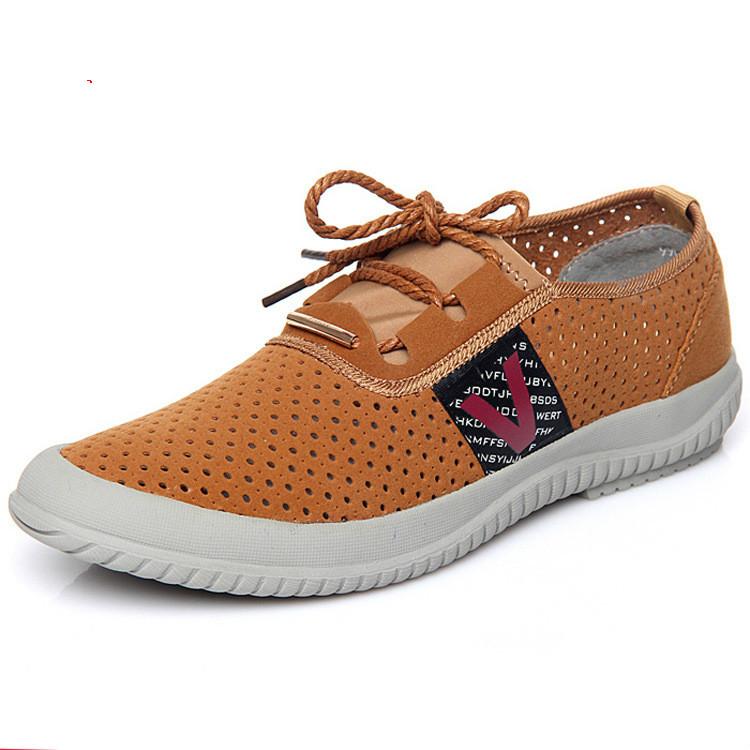 Summer Mesh Shoes Men New 2016 Male Fashion Hole Hole Shoes Man Plus Size Air Mesh Mens Shoes Flat Hollow Out Shoes Business<br><br>Aliexpress