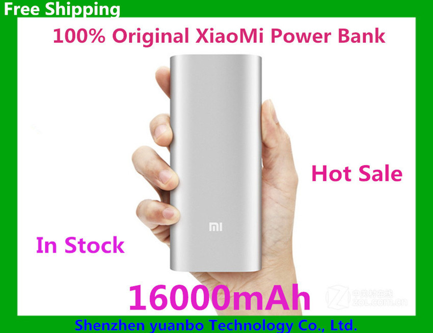 Original Xiaomi Power Bank 16000mAh External Battery Portable Charger Mobiles Powerbank for All mobile phone Fast Shipping(China (Mainland))
