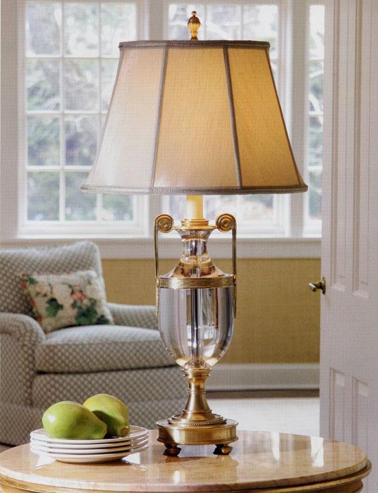 Luxury Living Room Brass Desk Lamps/Lights, Fabric Shade ...